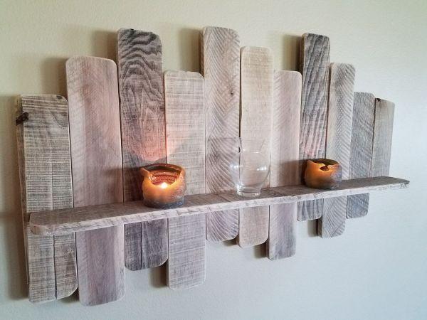 DIY Pallet Board Shelf | Sunset Ridge Exteriors | Madison